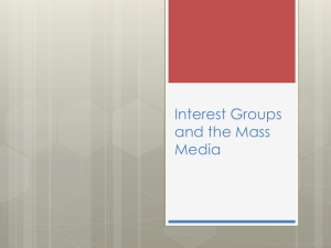 Interest Groups and the Mass Media