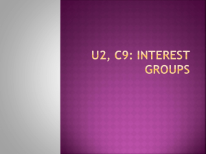 U2, C9: Interest Groups