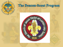 Deacon/ Scout Training Presentation ()