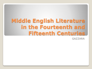 Middle English Literature in the Fourteenth and