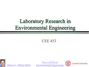 Laboratory Research in Environmental Engineering CEE 453