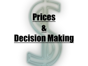 Prices & Decision Making