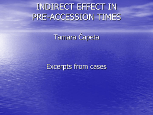INIDIRECT EFFECT IN PRE