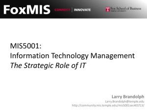 MIS5001: Information Technology Management