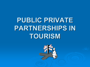 public private partnership in tourism