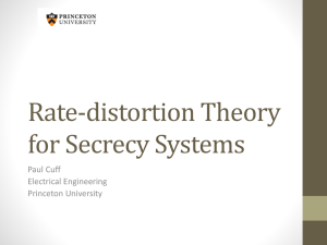 Information Theory for Distributed Systems