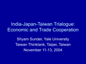India-Japan-Taiwan Trialogue: Economic and
