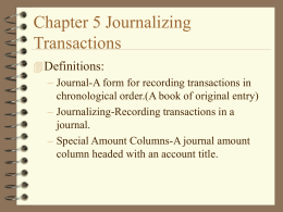 Chapter 5 Terms & Notes
