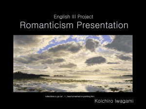 Romantic Period Presentation
