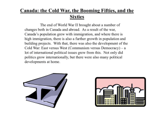 Canada: Cold War, Booming 50s and