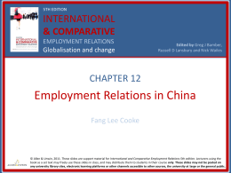 China PP Slides - Sage Publications