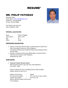 resume' mr. philip patigdas