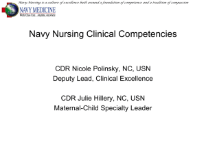 Navy Nursing Clinical Competencies
