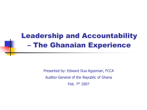Promoting Accountable Leadership for Results