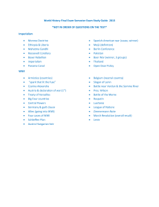World History Final Exam Semester Exam Study Guide2013