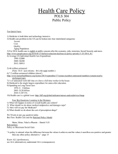 Health Care Policy - Harding University