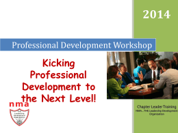 Professional Development Workshop
