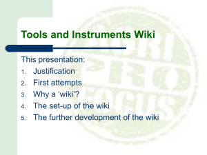 Tools Gender in Value Chains Wiki