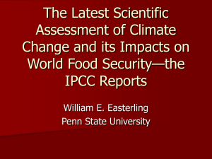 The Latest Scientific Assessment of Climate Change and its Impacts