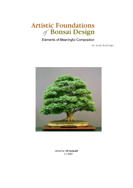 In order to imbue your bonsai with artistic design and composition