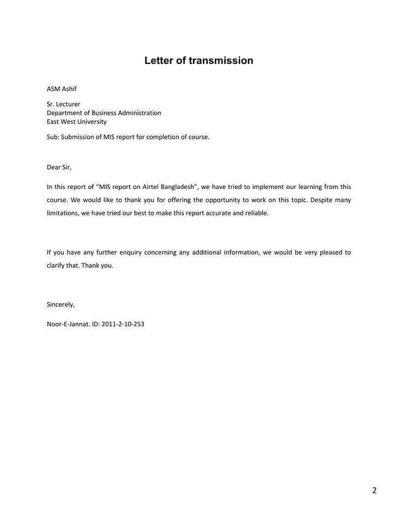 Some MIS report of Airtel Bangladesh