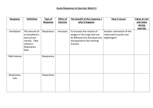 Acute Responses to Exercise mix and match