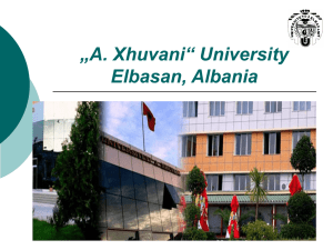 University of Elbasan (UE)/ Albania