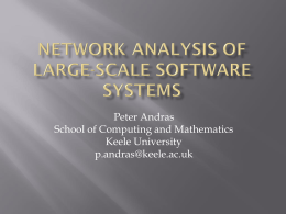 Network Analysis of Large-Scale software systems