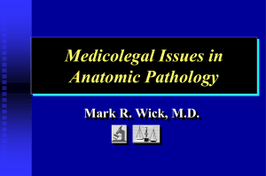Medicolegal Issues in Pathology