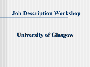 Job description writing workshop presentation