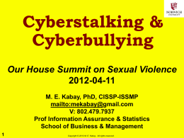 Cyberstalking & Cyberbullying
