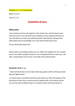 Temptation of Jesus. Before event