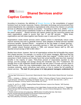 Shared Services or Captive Centers