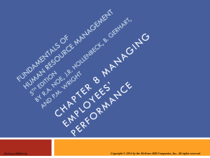 Chapter 008 Managing Employees' Performance