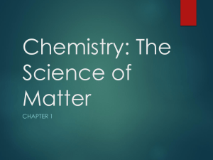 Chemistry: The Science of Matter