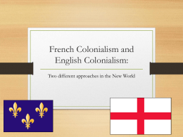 French Colonialism and English Colonialism