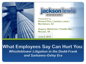 Program Slides Whistleblower - Association of Corporate Counsel