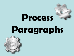 Process Paragraphs