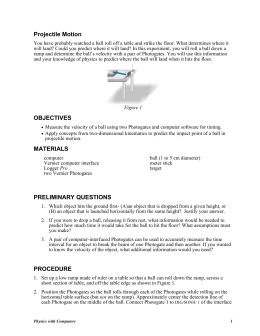 projectile motion report