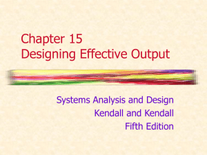 Chapter 14 Designing Effective Output