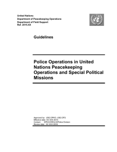 Guidelines Police Operations in United Nations Peacekeeping
