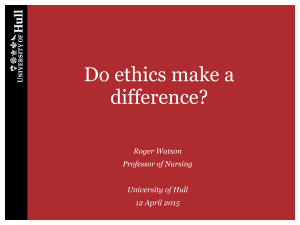 Do ethics make a difference to health care