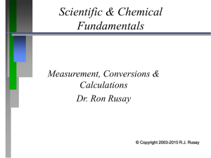 Scientific & Chemical Foundations