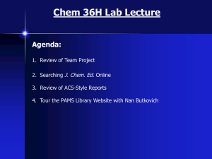 Lab Lecture (March 6/7)