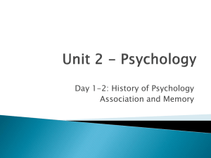 1. The Branches of Psychology