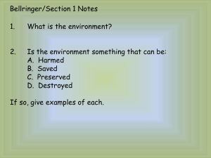 Chapter 1, Section 1 and 2 Notes
