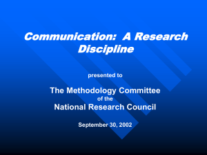 Communication Science Talking Points