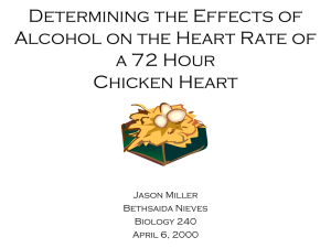 Determining the Effects of Alcohol on the Heart Rate of the 72 Hour