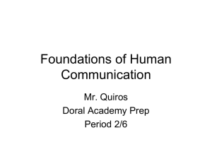 Foundations of Human Communication