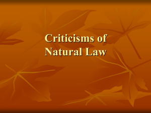 Criticisms of Natural Law